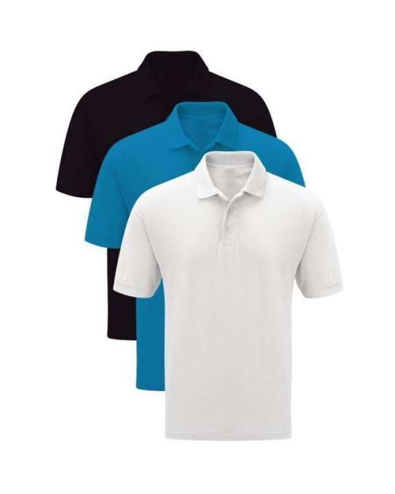 Pack Of 3 - Cotton & Polyester Multicolor Half Sleeves Plain Polo Shirt