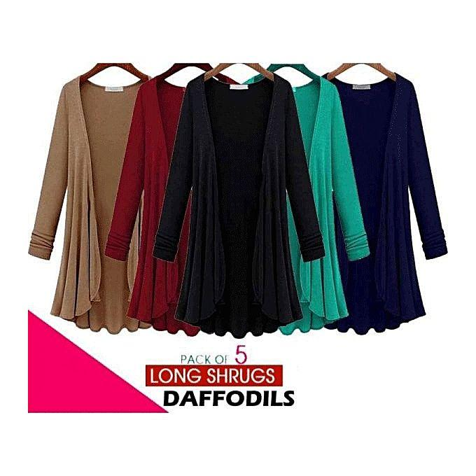 c97a659ac6f Pack of 5 Multicolor Daffodils Shrugs For Women