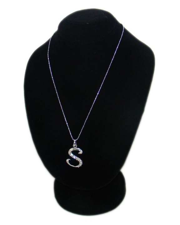 Silver Stainless Steel-S-Necklace For Women