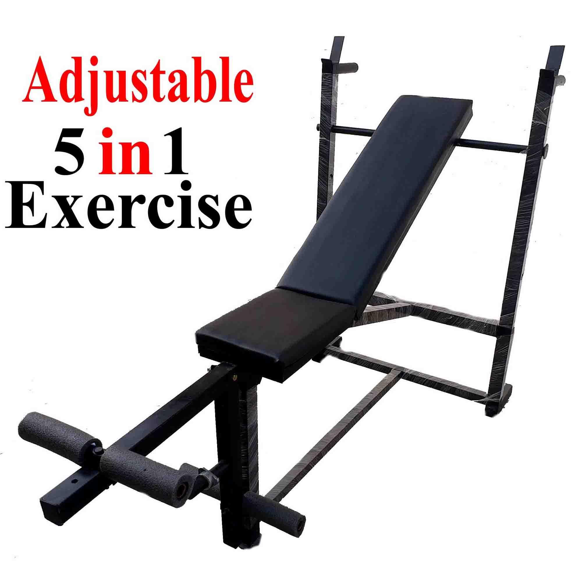 5 Exercise Adjustable Chest Bench Press Incline Decline Straight Leg Chest  Exercise Weight Lifting Body Building