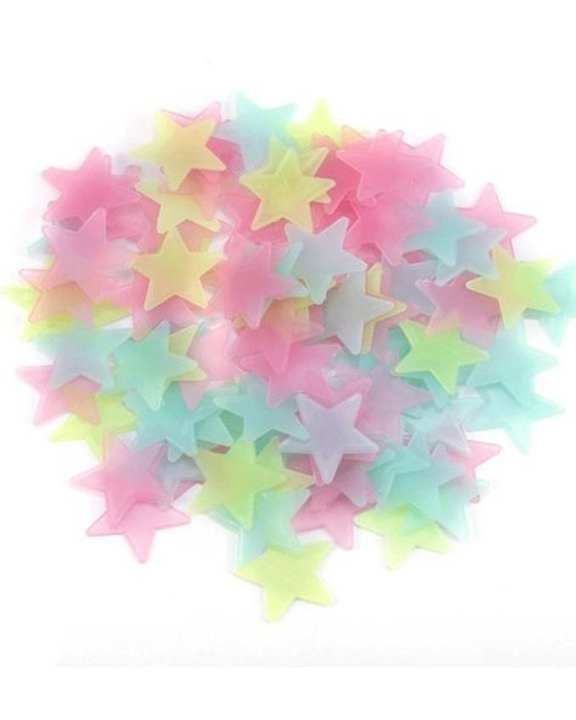 500Pcs Luminous Stars Wall Stickers,Home Glow In The Dark Stars For Kids Baby Room,DIY Wall Art Home Decor Sticker