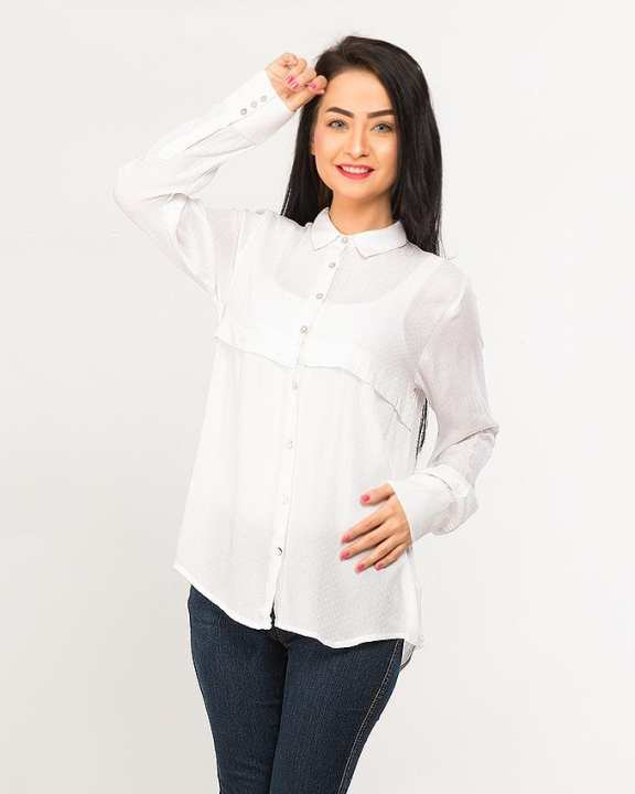 BEECHTREE - Absolute WHITE 1-Pcs Shirt For Women