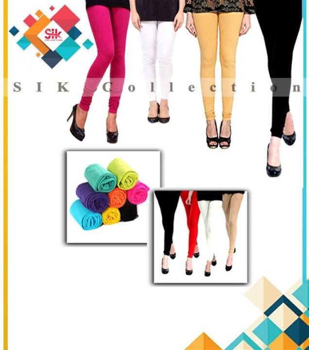 Pack of 4 - Imported Stretchable Tights For Women