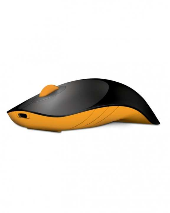 AirShark - Wireless Mouse - Black and Yellow