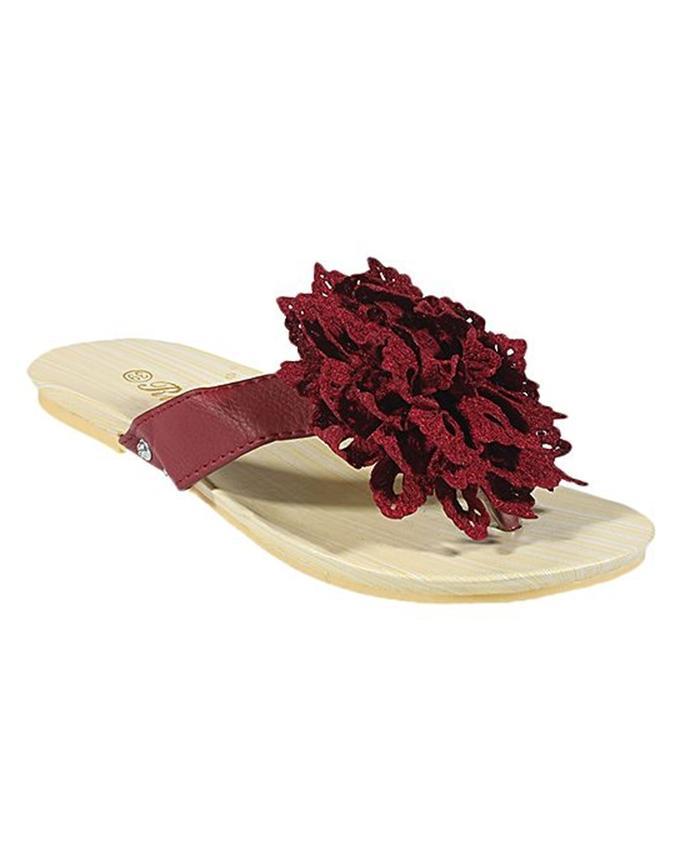 Pack Of 2 - Fancy Sandal & Floral Slipper For Women - MT4