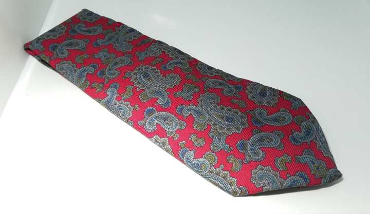 Red & Grey High Quality Neck Tie