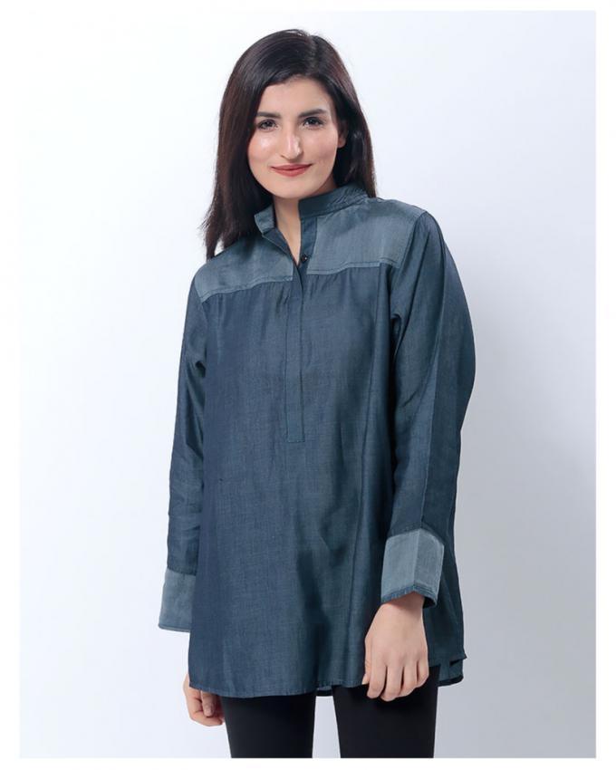 Featherlite Denim Eastern Shirt for Women