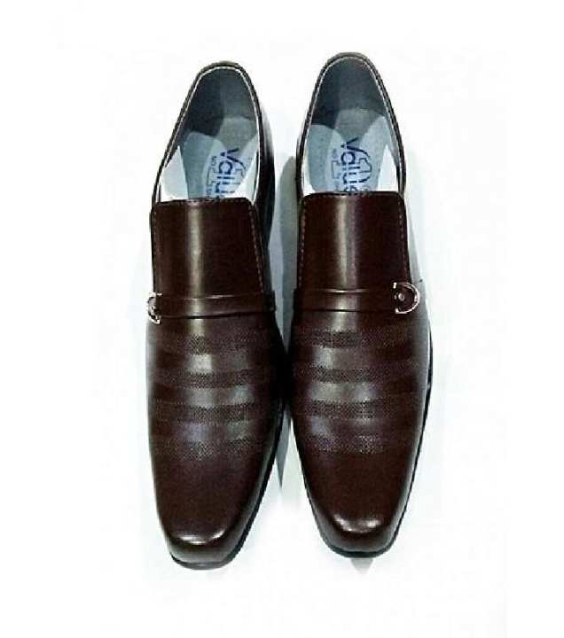 Dark Brown Stylish Wear Shoes For Men