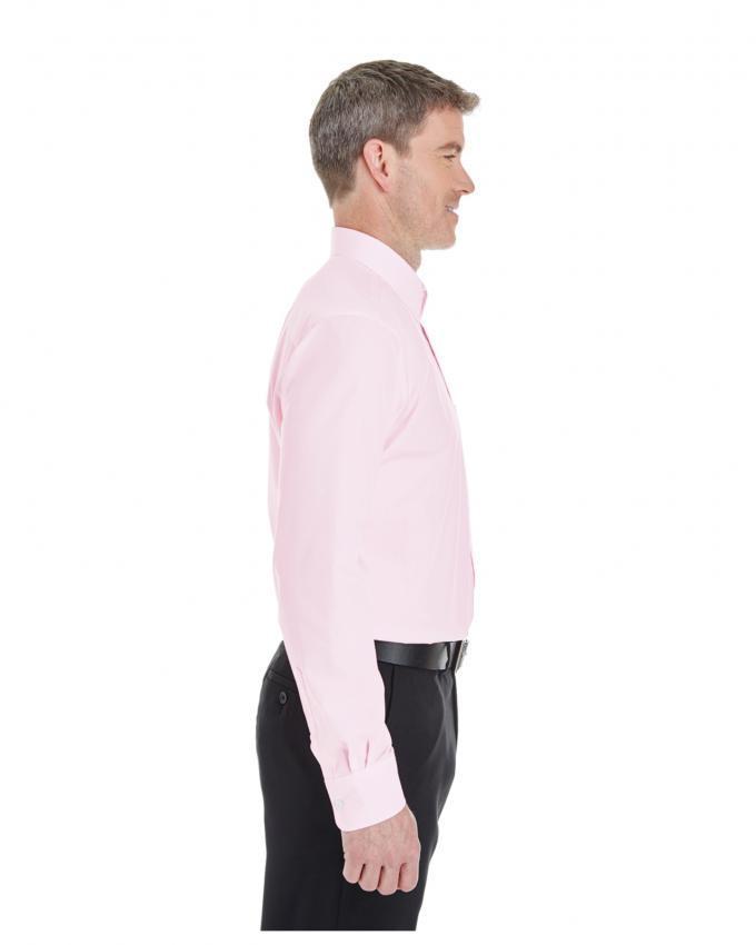 Light Pink Cotton Formal Shirt For Men