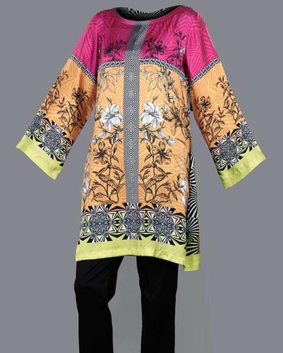 Tarzz - Psychedelic Love Multi Color Semi Formal Silk Tunics - 77042110125000