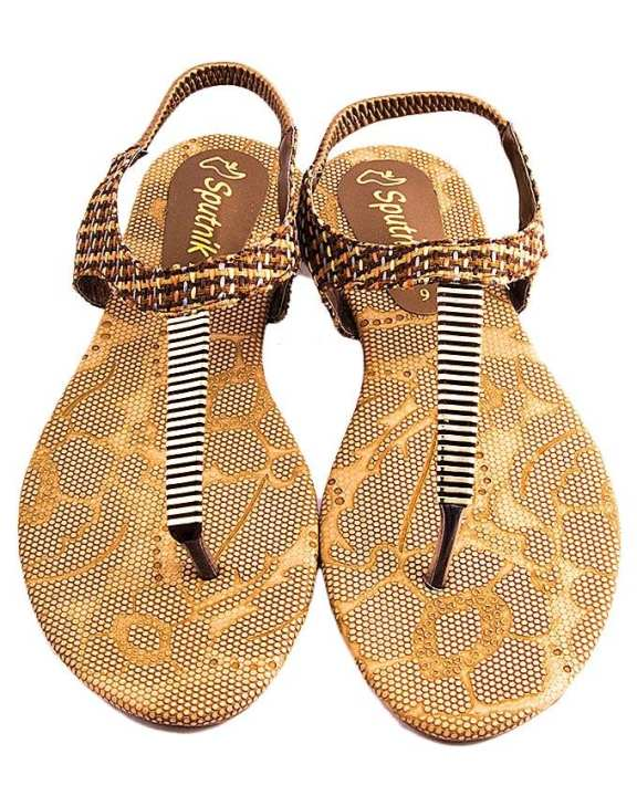 Brown Synthetic Sandal For Women 2950/001