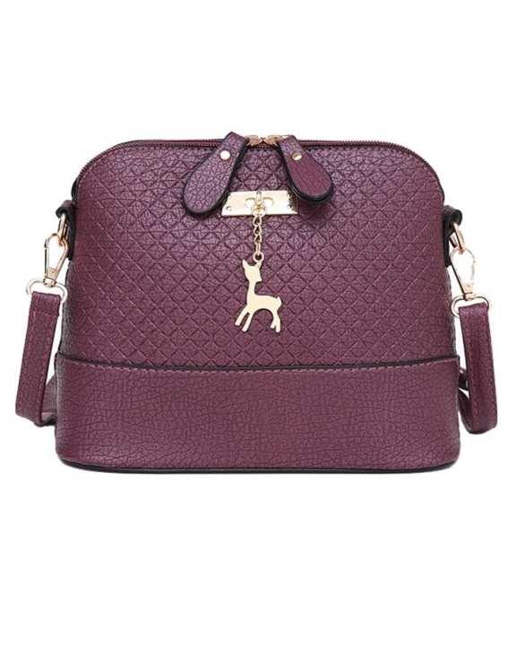 Women Messenger Bag Deer Shell Shoulder Mini Handbag Purple
