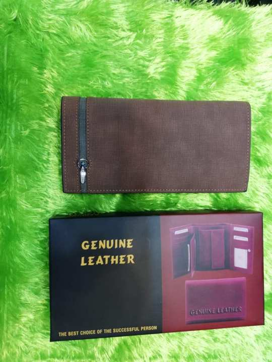 Leather Long Wallet Purse for Men