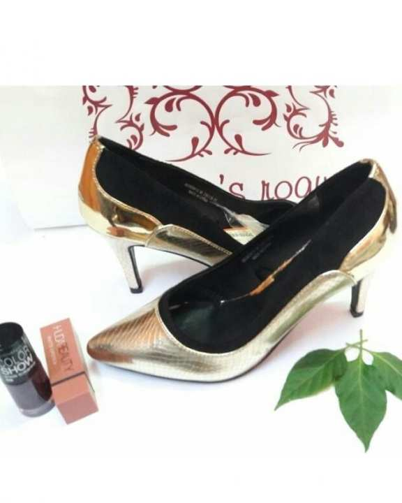 4 Inches - Golden Pump Heels For For Her - Golden Colour
