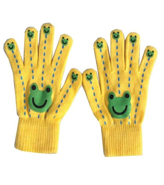 Wool Gloves for Women - Yellow
