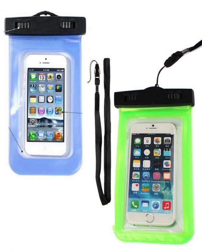 Pack of 2 - Water Proof Pouches - Blue & Green