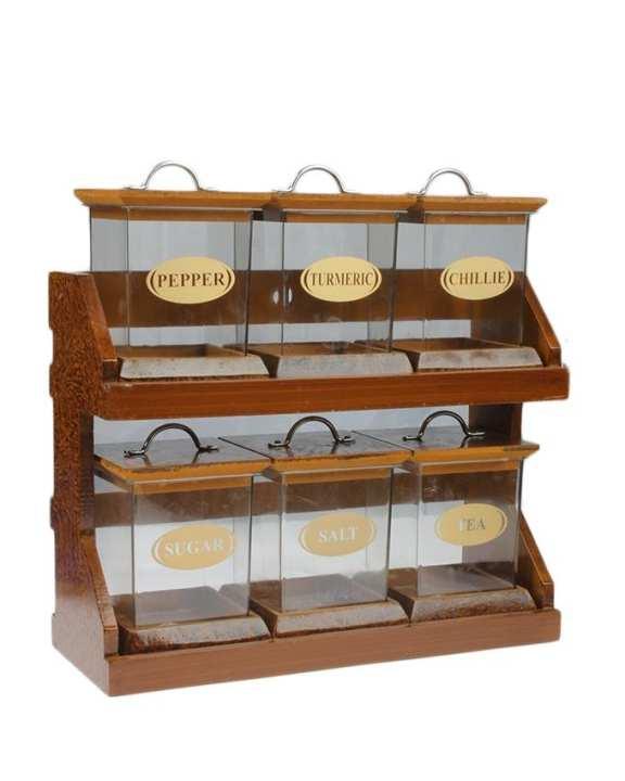 Taste-Heaven 2-Tier Spice Rack With 6 Spice Jars