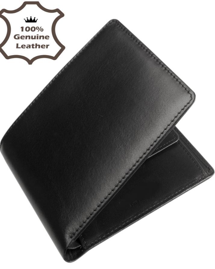 Black Leather Wallet For Men 4228bb82ec0