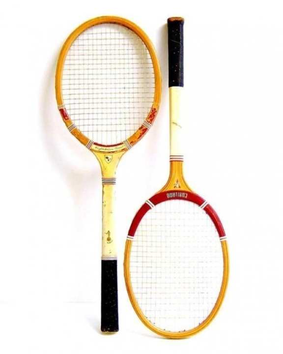 Pair Of Wooden Badminton Rackets - Multi Color