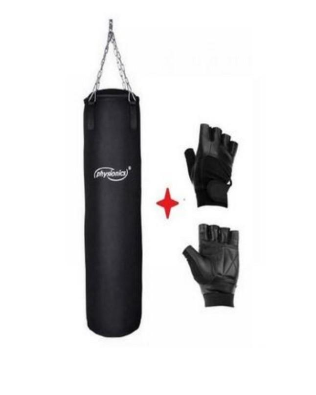 Yellow Black Punching Bag Lether Glove