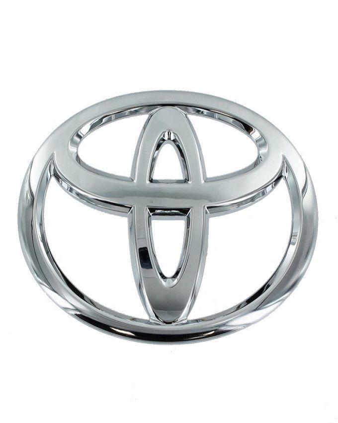 Toyota Car Monogram Badge - Silver