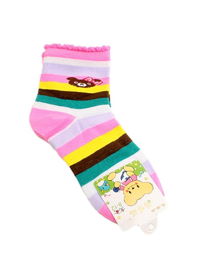 Set Of 5 - Multicolor Cotton Socks for Kids