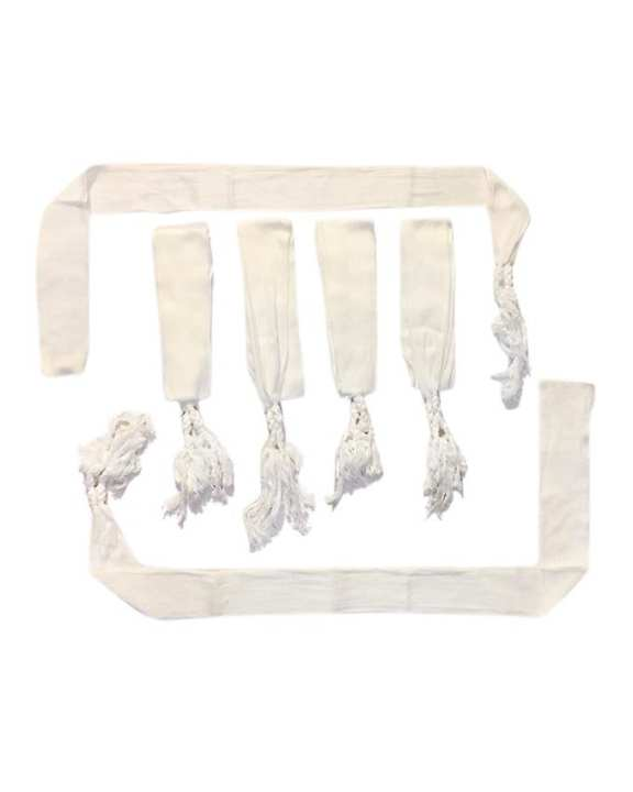 Pack of 6 - Draw String For Shalwar - White