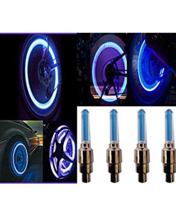 Pack of 4- Cycle Bike Car Tyre Valve Cap Wheel Spokes LED Light