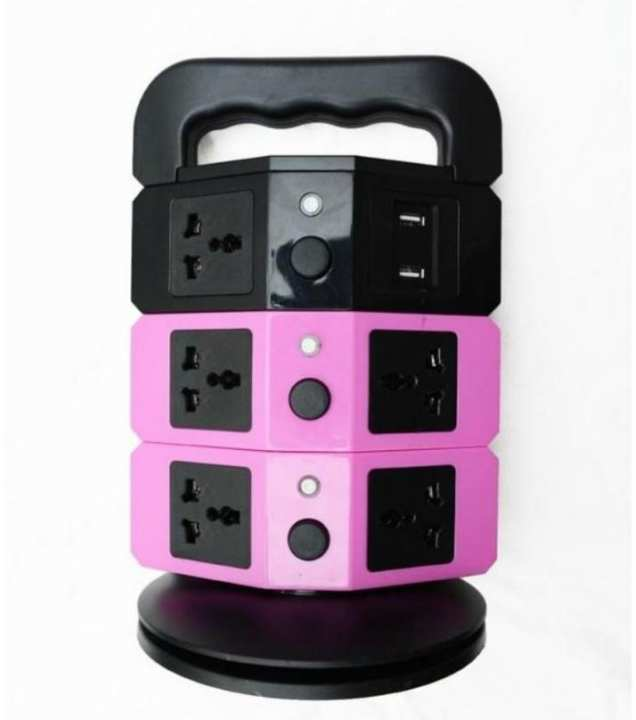 Tower Power Socket With Usb Charging Station - 2.1 - Multicolor