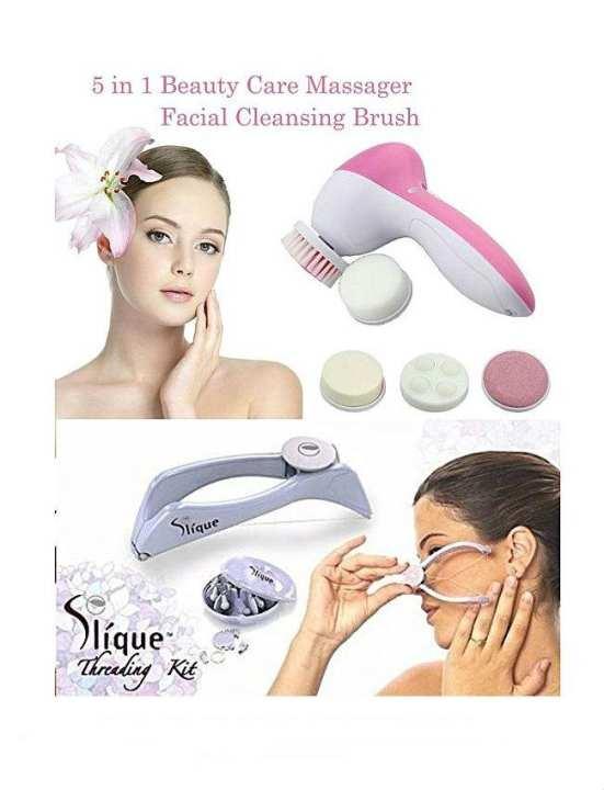 Slique Threading Machine & 5 In 1 Facial Massager