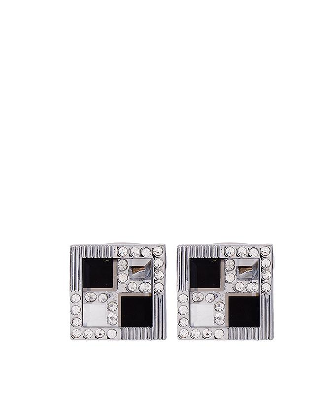 Silver Rhodium Cufflinks for Men - C-073
