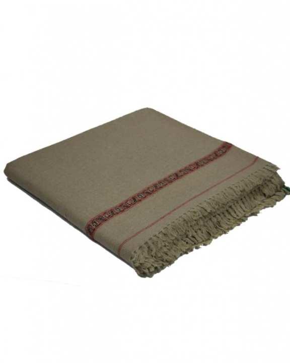 Grey Wool Handmade Shawls For Men