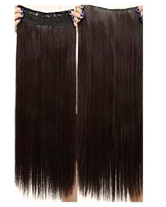 5 Clips In Full Volume Straight Hair Extension - Natural Brown