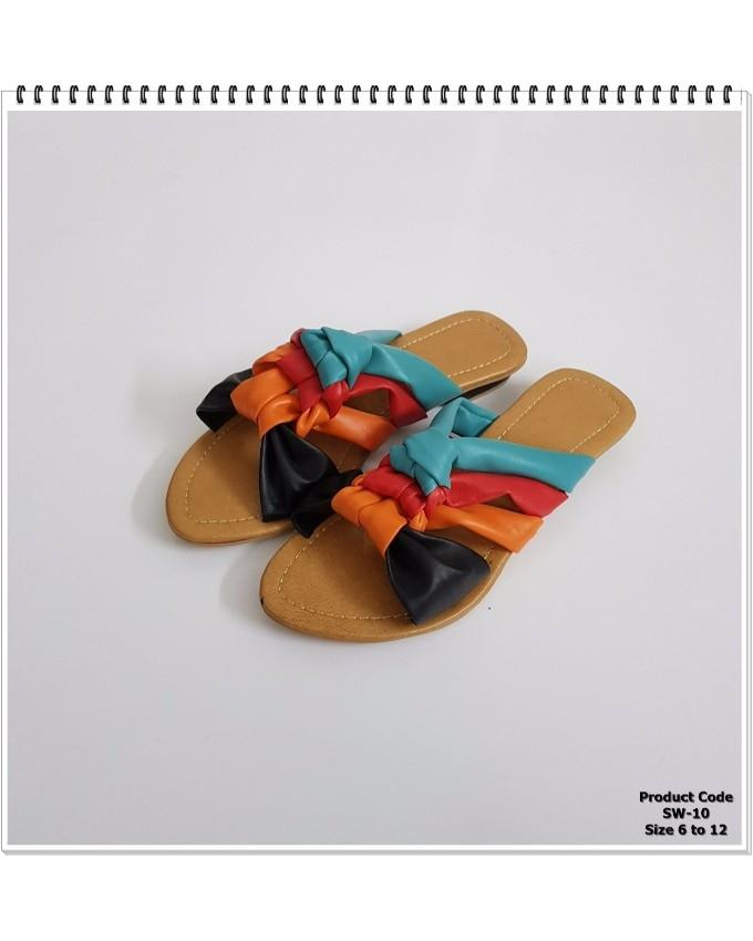 Black Multi Casual Slippers