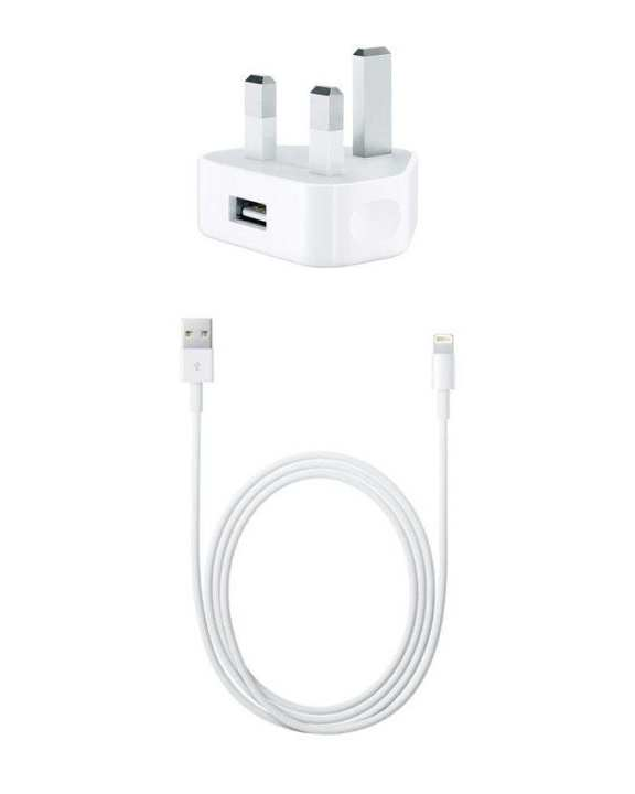 Pack of 2 - Data Cable & 3 Pin Charger For iPhone - White