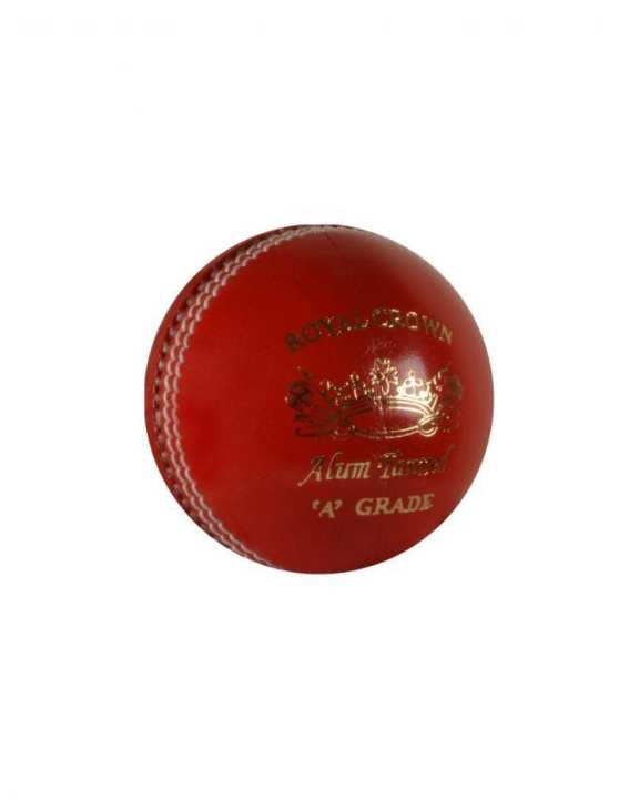 Royal Crown Leather Cricket Ball - Red