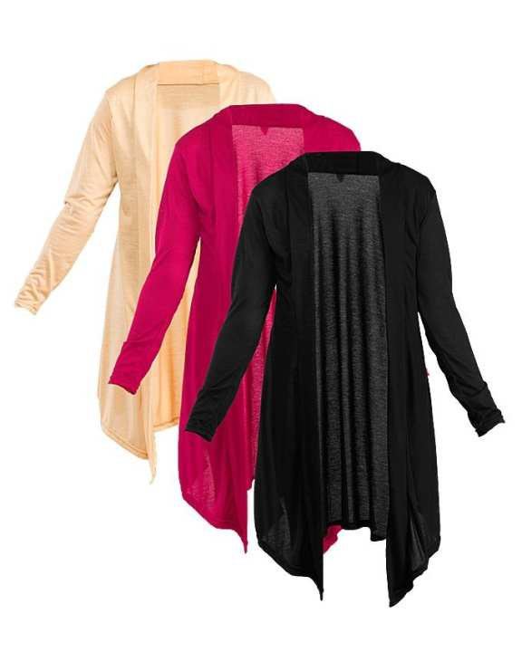 Pack Of 3 - Multicolor Viscose Shrugs For Women