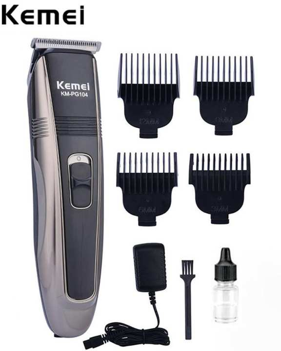 Km-Pg104, Hair Trimmer And Clippers, Shaving Machine, Rechargeable.