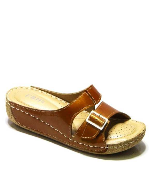 Mustard Leather Shoes For Women - 0018-25461