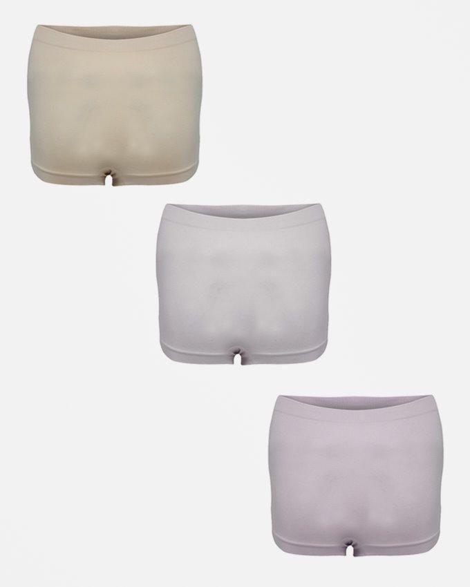 Pack Of 3 - Skin, Pink & Mauve Shorts For Women
