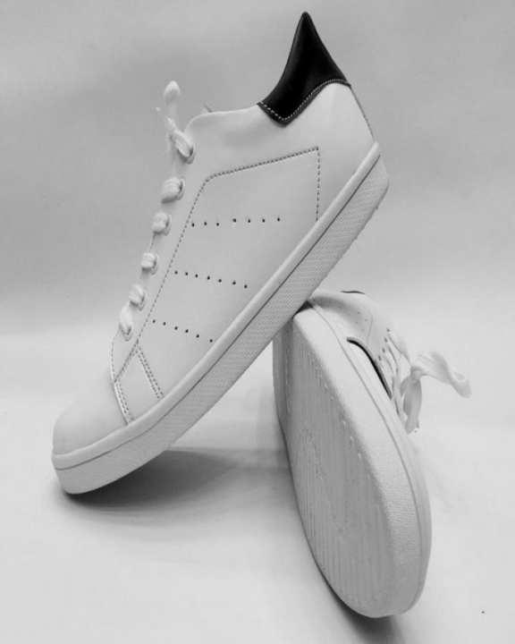 The Shoe Club White Black Lifestyle Sneaker Shoes For Men