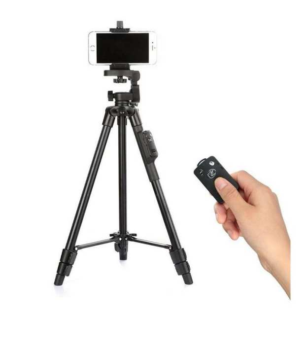 YunTeng - Professional Tripod For Mobile Phone & Sports Camera - Black