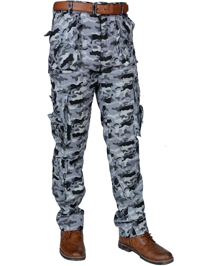 Urban Camo Mens Cargo Pants Army Work Trousers Combat Camouflage Camo Tactical