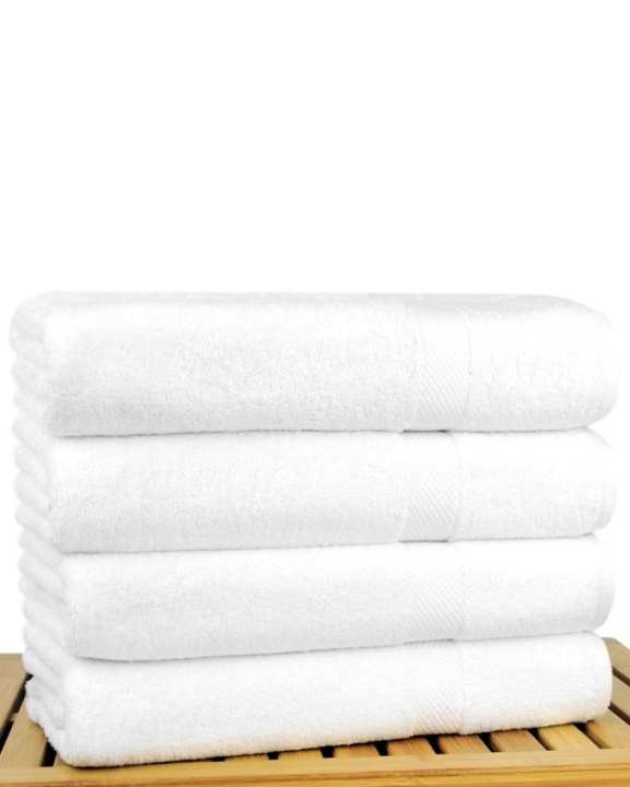 100 %  Cotton Bamboo Blended Ultra Soft White Hand Towel Set of 6 - 20 x 40