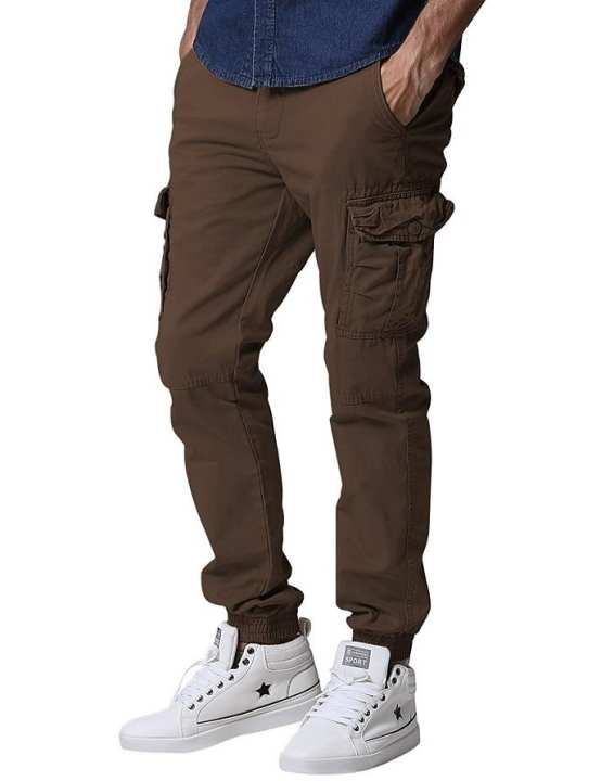 Men Cargo Trousers Pants Jeans