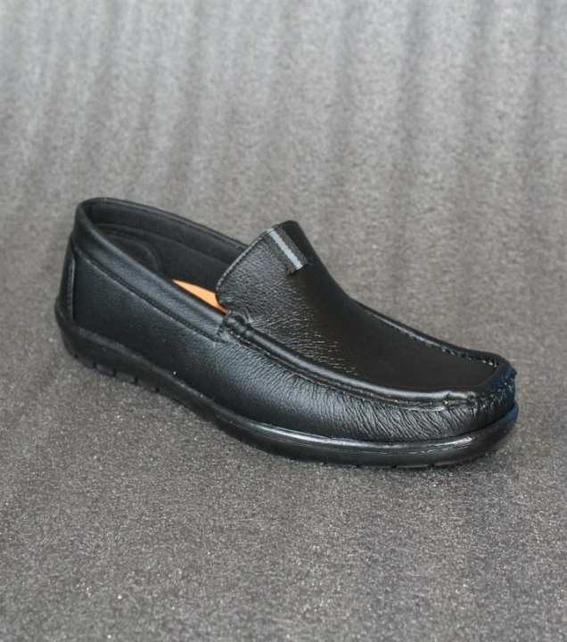 Black Artificial Leather Formal Shoes For Men