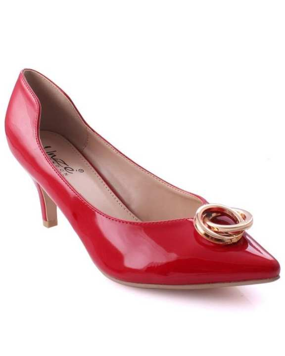 """Red Women """"AVAH"""" Buckle Accented Formal Office Dinner Courts L29878"""