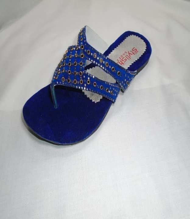 Blue  Color Synthetic Fancy Sleeper For Women -200-50750