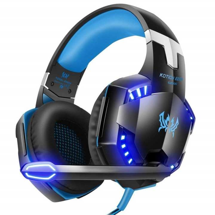 G2000 Gaming Headset With Mic For Pc,Ps4,Xbox One,Over-Ear Headphones