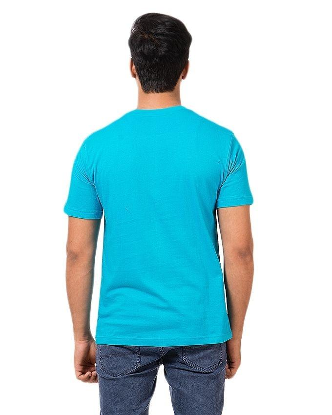 Blue Cotton Printed T-Shirt For Men - EP_1401